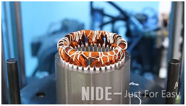 3 phase electric induction motor stator assembly line